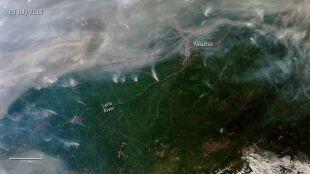 Ponad trzy miliony hektarów lasów w ogniu. Pożar widać na zdjęciach satelitarnych