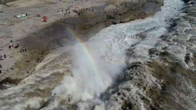 Trzy razy więcej wody niż zazwyczaj. Wodospad wezbrał po intensywnych opadach