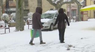 Opady śniegu we Francji